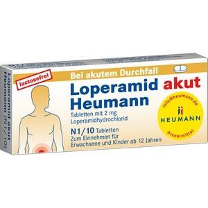 Abbildung von Loperamid Akut Heumann  Tabletten