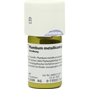 PLUMBUM METALLICUM praep. D 6 Trituration
