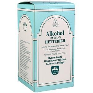 Alkohol Hetterich 70% Lösung 500 ml