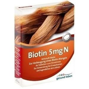 gesund leben Biotin 5 mg N Tabletten, 60 St.