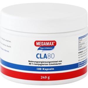 CLA 80% Megamax 1 g konjug.Linolsäure Kapseln