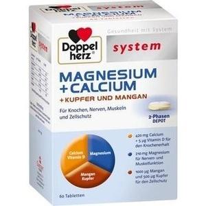 DOPPELHERZ Magnesium+Calc.+Kupfer+Mangan syst.Tab.