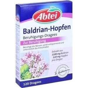 ABTEI Baldrian Hopfen Beruhigungs Dragees
