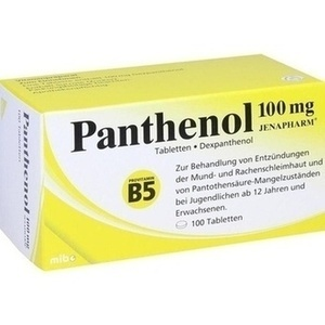 PANTHENOL 100mg Jenapharm Tabletten
