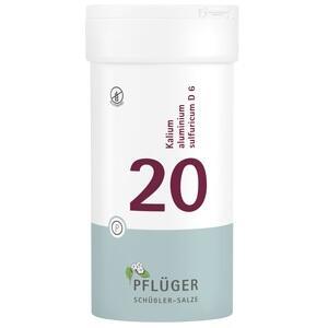 BIOCHEMIE Pflüger 20 Kalium alumin.sulfur.D 6 Tab.