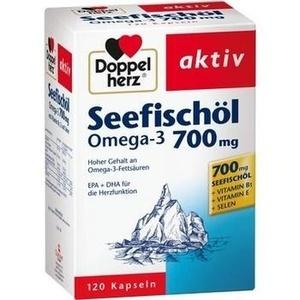 DOPPELHERZ Seefischöl Omega-3 700 mg Kapseln