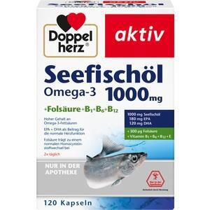 DOPPELHERZ Seefischöl Omega-3 1.000 mg+Fols.Kaps.