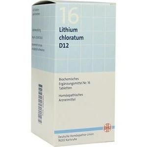 BIOCHEMIE DHU 16 Lithium chloratum D 12 Tabletten