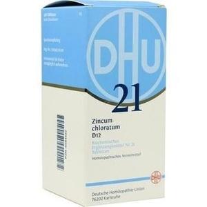 Biochemie Dhu 21 Zincum Chloratum D12 Tabletten