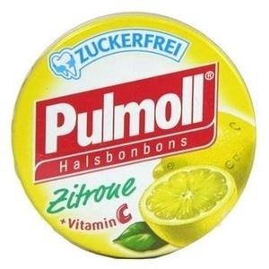 PULMOLL Hustenbonbons Zitrone zuckerfrei