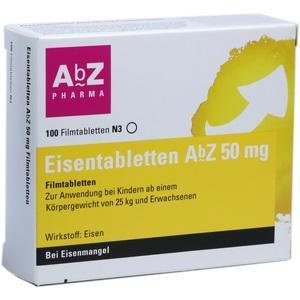 EISENTABLETTEN AbZ 50 mg Filmtabletten
