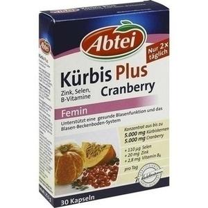 ABTEI Kürbis Plus Cranberry+Zink+B Vit.Kapseln
