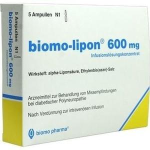 BIOMO LIPON 600 mg fiole