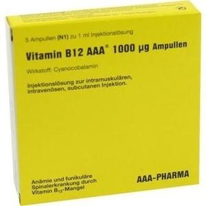 VITAMIN B12 AAA 1.000 μg Ampullen