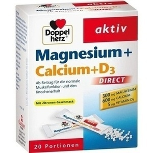 DOPPELHERZ Magnesium+Calcium+D3 DIRECT Pellets