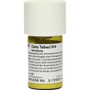 CINIS TABACI D 6 Trituration