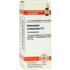 AMMONIUM CARBONICUM C 6 Globuli