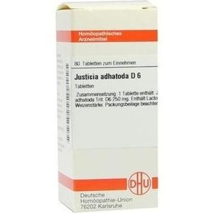 JUSTICIA adhatoda D 6 Tabletten