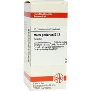MATER PERLARUM D 12 Tabletten