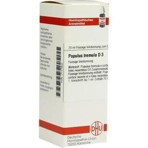 POPULUS TREMULA D 3 Dilution