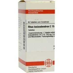 Rhus Toxicodendron C15 Tabletten