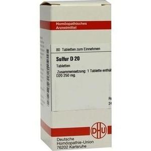 SULFUR D 20 Tabletten