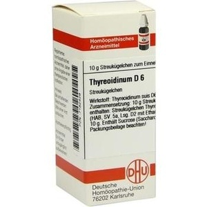 THYREOIDINUM D 6 Globuli