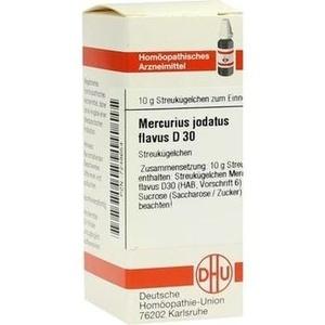 MERCURIUS JODATUS FLAVUS D 30 Globuli