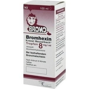 BROMHEXIN Krewel Meuselbach Tropfen 8mg/ml