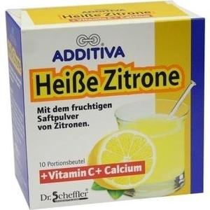 ADDITIVA Heiße Zitrone Vitamin C+Calcium Pulver