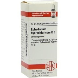 EPHEDRINUM hydrochloricum D 6 Globuli