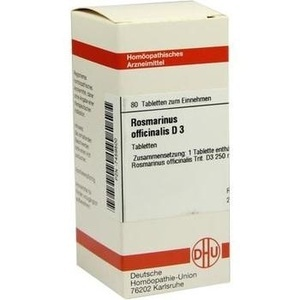 ROSMARINUS OFFICINALIS D 3 Tabletten