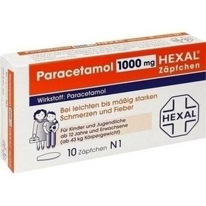 PARACETAMOL 1.000 mg HEXAL Zäpfchen