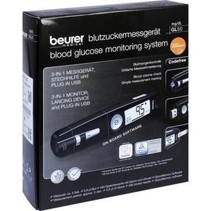 BEURER GL50 Blutzuckermessgerät mg/dl schwarz