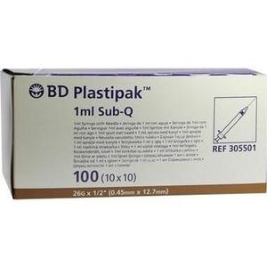 BD PLASTIPAK Spr.1 ml Sub-Q 26 G 1/2 einges.Ka.