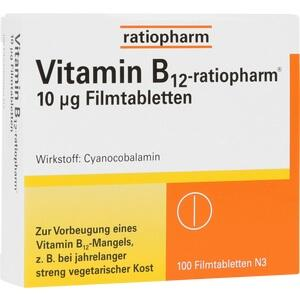 VITAMIN B12-RATIOPHARM 10 μg Filmtabletten