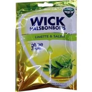 WICK Limette & Salbei Bonbons o.Zucker