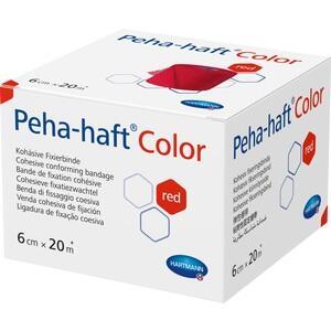 PEHA-HAFT Color Fixierbinde latexf.6 cmx20 m rot