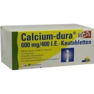 CALCIUM DURA Vit D3 600 mg/400 I.E. Kautabletten