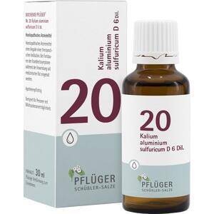 BIOCHEMIE Pflüger 20 Kalium alumin.sulfur.D 6 Tro.
