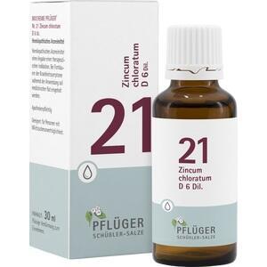 BIOCHEMIE Pflüger 21 Zincum chloratum D 6 Tropfen