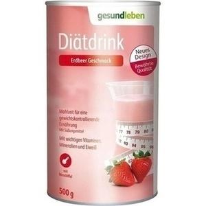 GESUND LEBEN Diätdrink Erdbeer Pulver