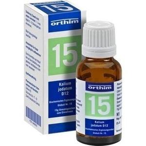 BIOCHEMIE Globuli 15 Kalium jodatum D 12