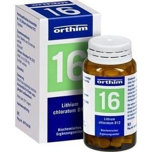 Biochemie Orthim Nr. 16 Lithium Chloratum D12 Tabletten