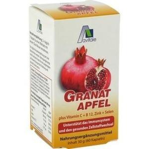 GRANATAPFEL 500 mg plus Vit.C+B12+Zink+Selen Kaps.