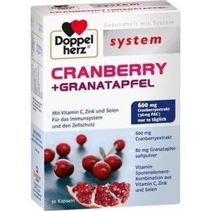 DOPPELHERZ Cranberry+Granatapfel system Kapseln