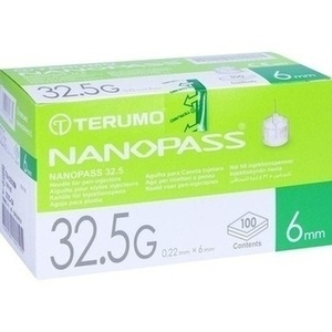 TERUMO NANOPASS 32,5 Pen Kanüle 0,22x6 mm