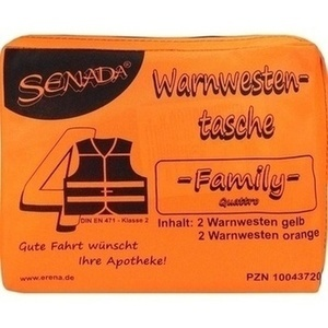 SENADA Warnweste orange Family Tasche