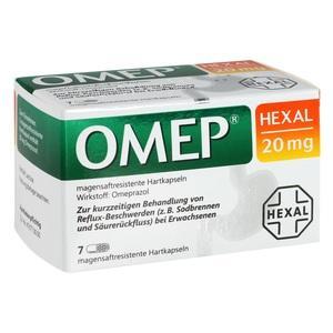 Abbildung von Omep Hexal 20mg Magensaftresistente Hartkapseln