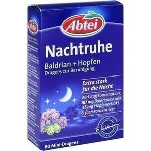 ABTEI Nachtruhe Baldrian+Hopfen Drag.z.Beruhigung